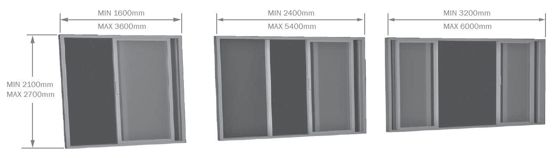 Aluminium Sliding Door sizes