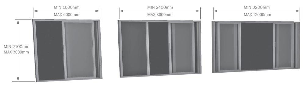 Timber Stellar Lift & Slide Door sizes