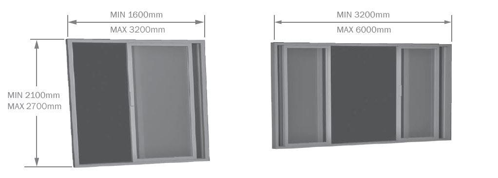 Timber Sliding Door sizes