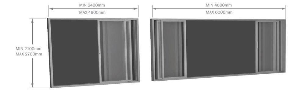 Timber Stacker Door sizes