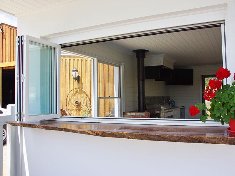 Timber Bifold Window