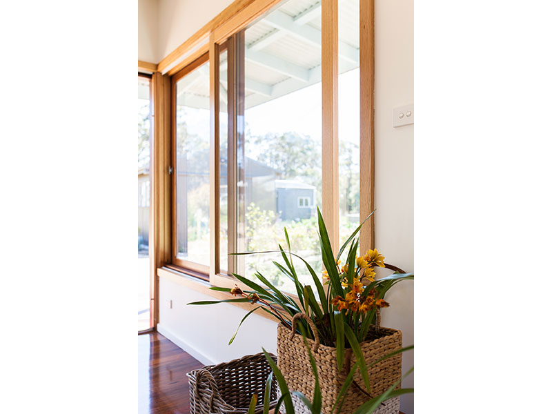 Timber Sliding Window