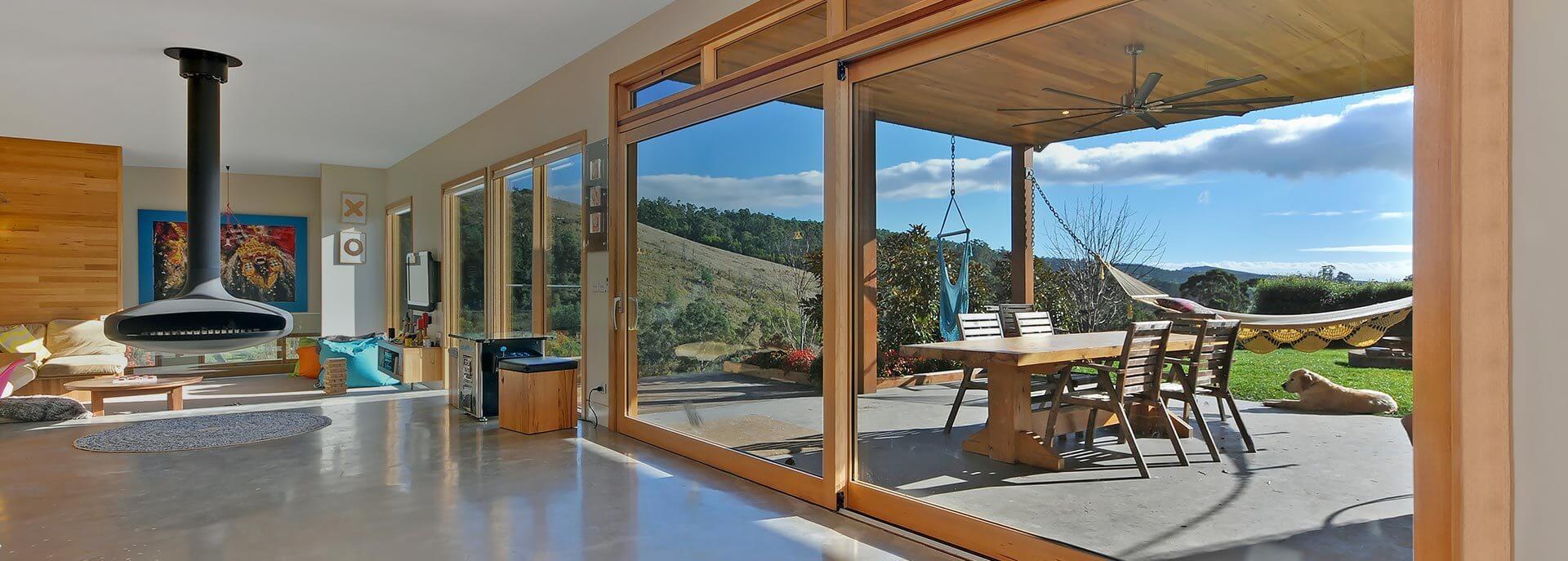 valley windows - timber sliding doors